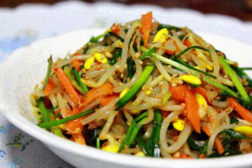 Seasoned Bean Sprouts with Chives   All That Korea