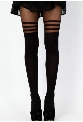 *In Wardrobe: I have these tights! (the skin part is a little more nude on my legs)*