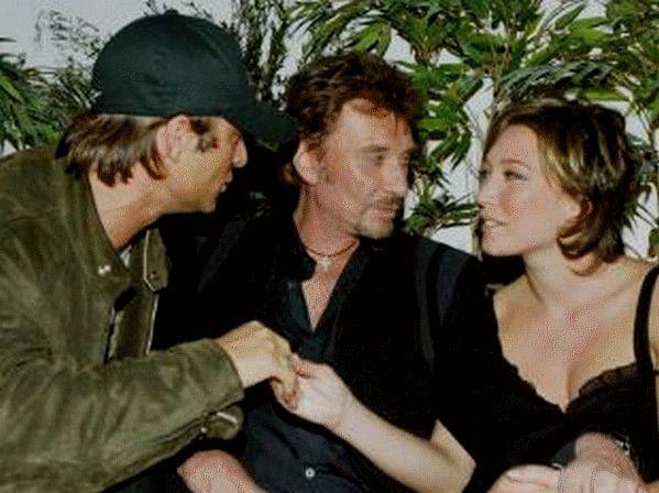 Johnny, David en Laura Smet