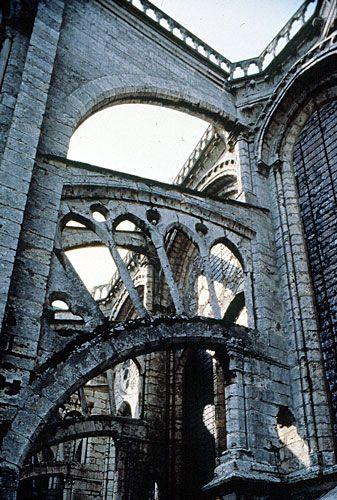 Arbotantes de la Catedral de Chartres