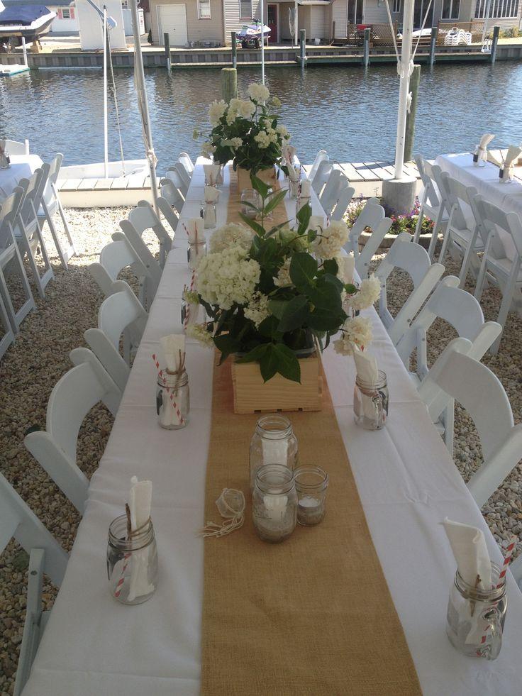 Backyard Wedding Décor #Atlanta #rental #white #wedding #reception #chair #