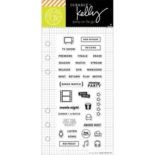 H Arts Kelly Purkey TV Planner Clear Stamp Set