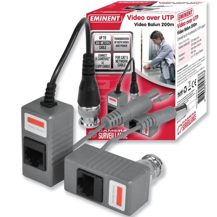 Eminent Video Over UTP 200m  5 048 Ft  A megfigyelőkamera és a felvevőegység összekötésére.