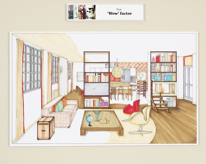 Wonderful Image For Interior Design Drawings Perspective Amazing Decorating