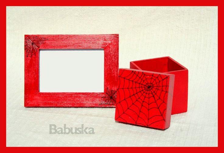 Caja de madera, y porta retratos, pintados y decorados a mano. Ideal para souvenir. (B004)