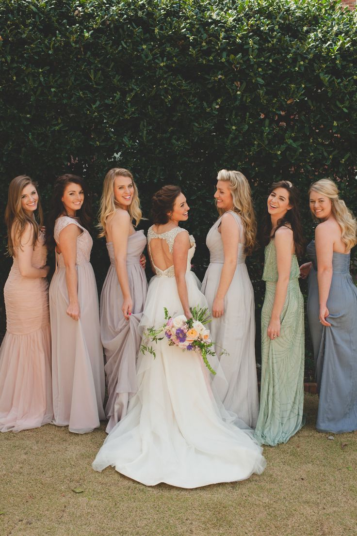 524 best friends of the bride images on pinterest marriage pastels mismatched bridesmaid dressesbridesmaid ombrellifo Gallery