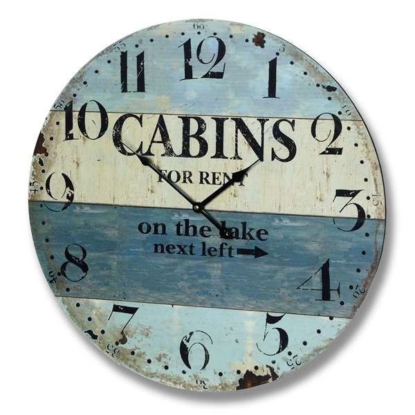 Cabins For Rent Beach Clock Clock Print Ideas