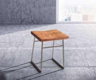 Küchenstuhl Blokk Akazie Natur Metallgestell Massivholz Esszimmerstuhl  Jetzt Bestellen Unter: ...