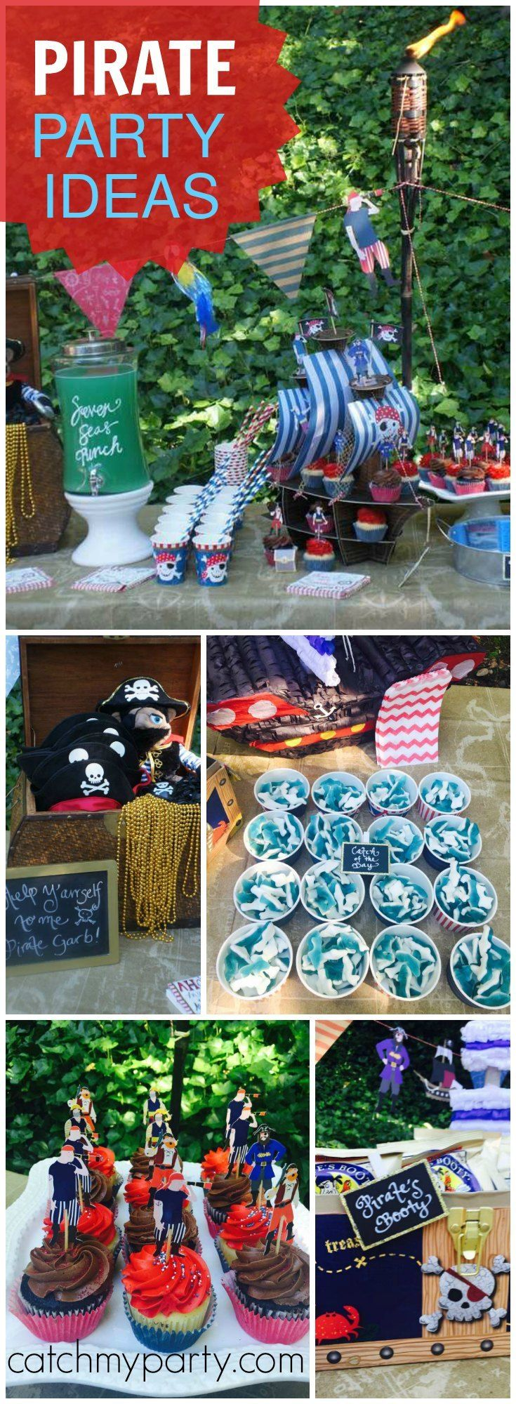 "You have to see this awesome ""Pirate's Life for Me!"" pool party! See more party ideas at Catchmyparty.com!"