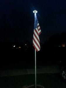 Veterans Flag Depot - LED Solar Flagpole Light, $49.95 (https://www.veteransflagdepot.com/led-solar-flagpole-light/)
