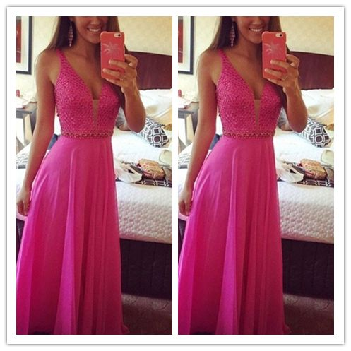 Sexy Beading Real Made Prom Dresses/Long Evening Dresses/Great Prom Dresses #D75