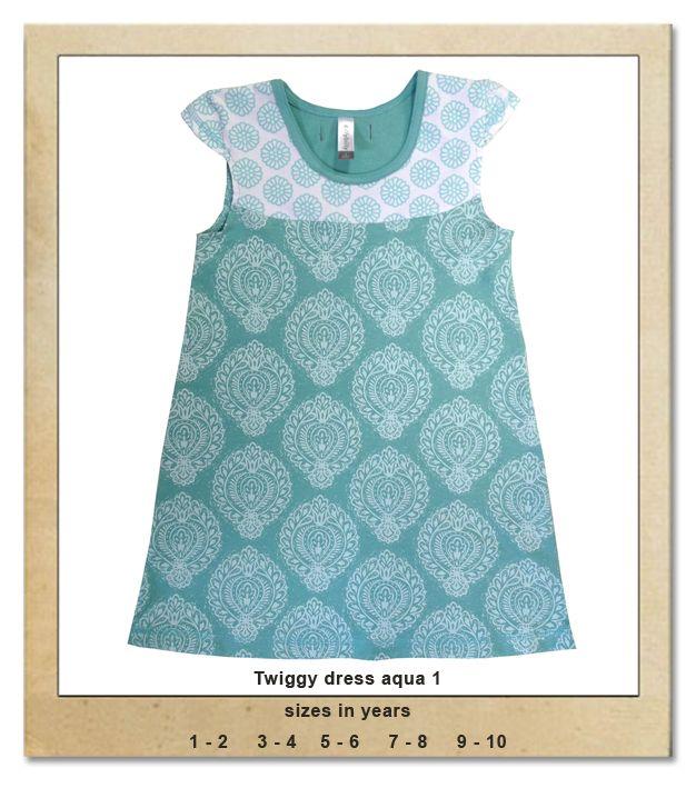 Sillybilly© clothing: Twiggy dress aqua 1