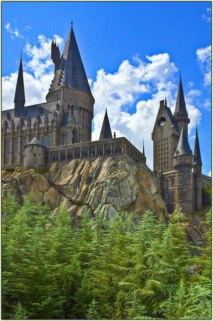 Hogwarts Castle, Universal Studios, Orlando, Florida.