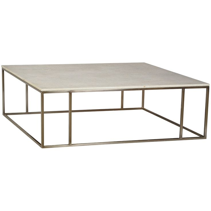 Dovetail Sinclair Coffee Table Steel Frame Marbles And