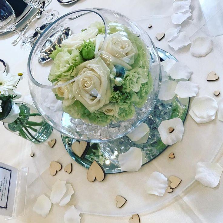 ガラスボールを使ったゲストテーブル装花まとめ   marry[マリー]