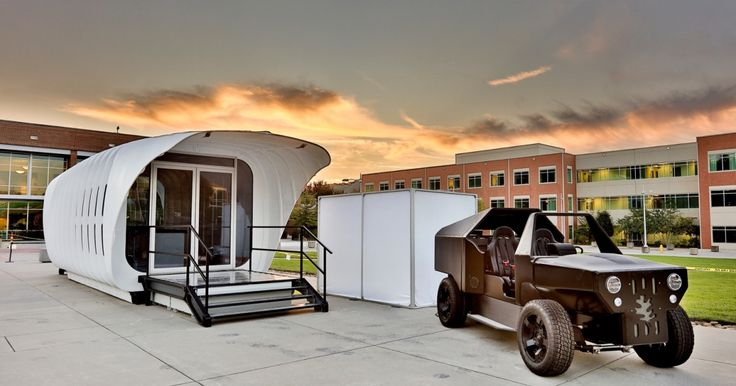 Oak Ridge National Laboratory builds an integrated 3D-printed car and house http://www.digitaltrends.com/cars/oak-ridge-national-laboratory-builds-an-integrated-3d-printed-car-and-house/