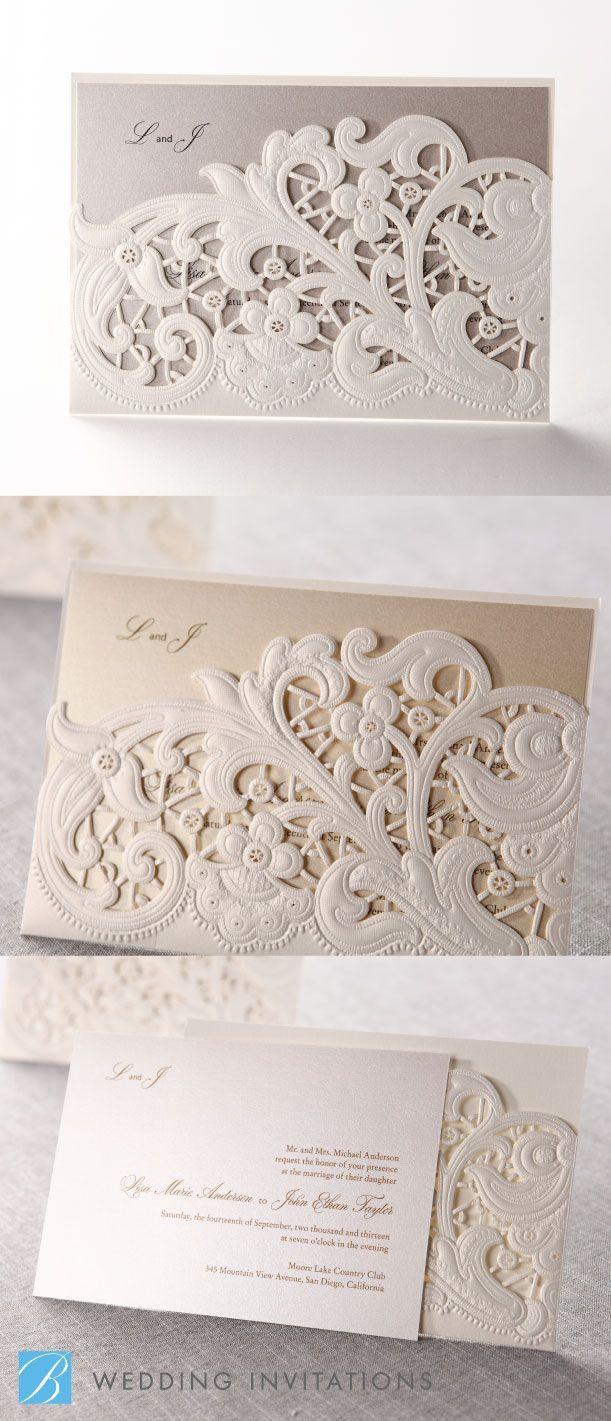 35 best Beautiful Wedding Invites images on Pinterest | Invitation ...