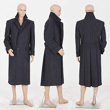 Men's Wool Coat Inspired by Sherlock Holmes