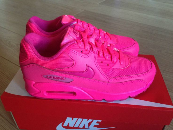 neon pink nike air max 90 hyperfuse