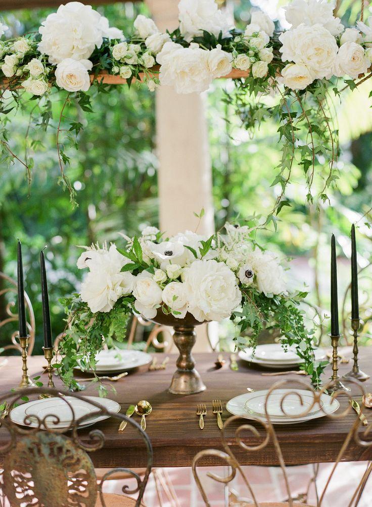 Moody Secret Garden Wedding Inspiration Garden wedding