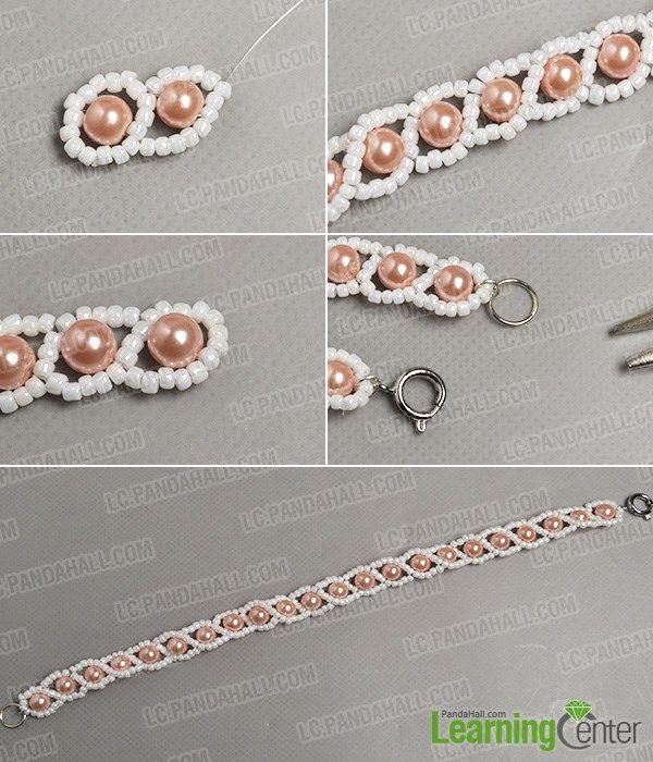 Finish the fresh pearl bracelet