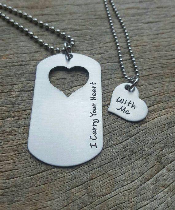 Parejas conjunto llevo tu corazón conmigo mano por One27Designs