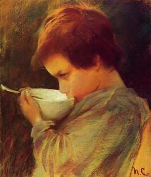 Child Drinking Milk - Mary Cassatt - The Athenaeum