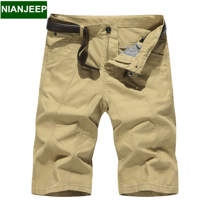 Plus Size Short pants men NIANJEEP summer mens casual shorts pants Thin section pants shorts cotton straight male beach trousers