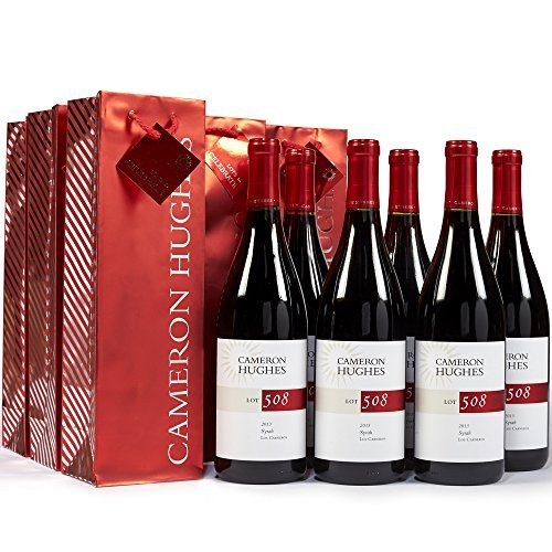 Cameron Hughes Syrah + Gift Bags Red Wine Gift Set, 6 x 750mL