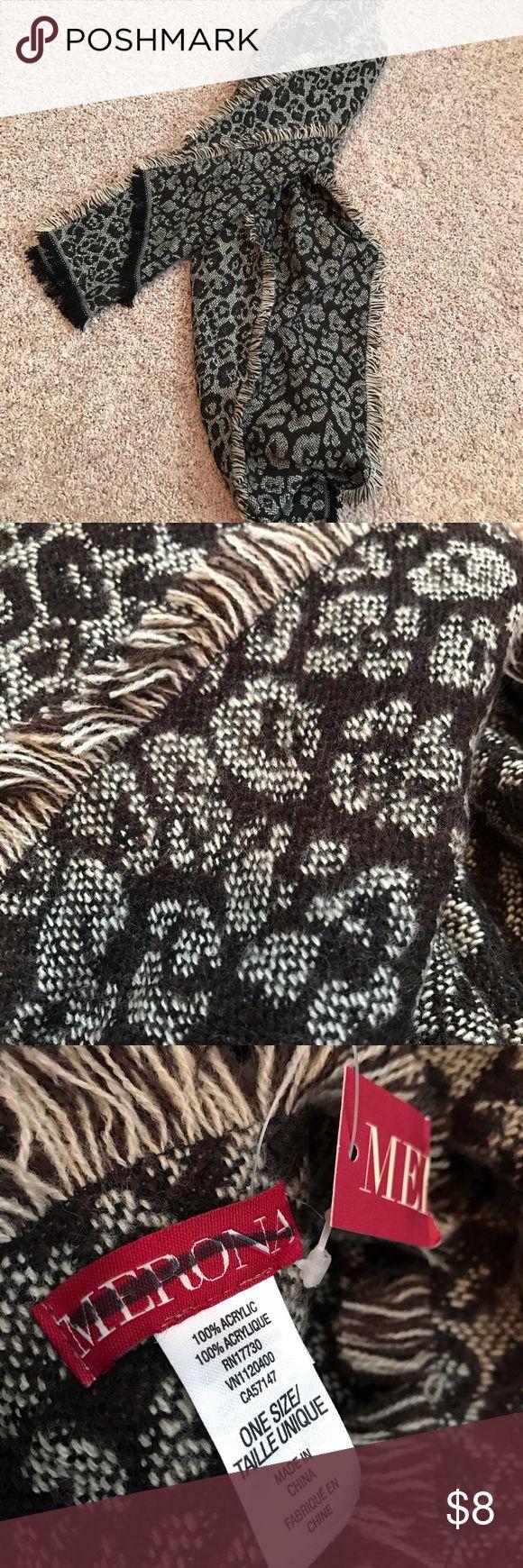 ✨🆕✨NWT Merona Leopard Print Scarf ✨🆕✨NWT Merona Leopard Print Scarf. Coming from a smoke free home. 🚫 trades. Merona Accessories Scarves & Wraps