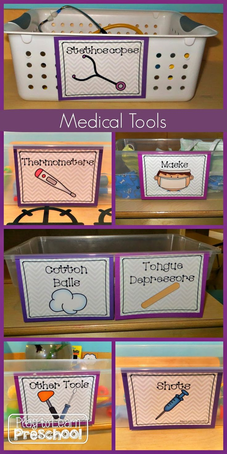Great ideas for setting up a hospital-themed dramatic play center!