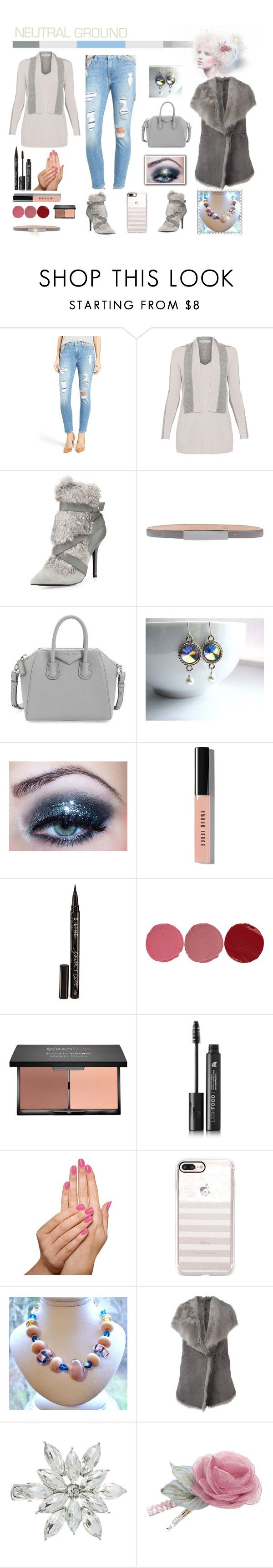 """Neutrals"" by belladonnasjoy ❤ liked on Polyvore featuring 7 For All Mankind, D.Exterior, Charles Jourdan, Barbara Bui, Givenchy, Bobbi Brown Cosmetics, Smith & Cult, Charlotte Tilbury, blacklUp and LashFood"