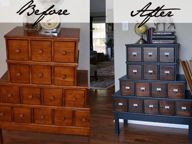 Let's Get Crafty Cabinet Makeover - Vintage Cabinet Makeover - Country Living