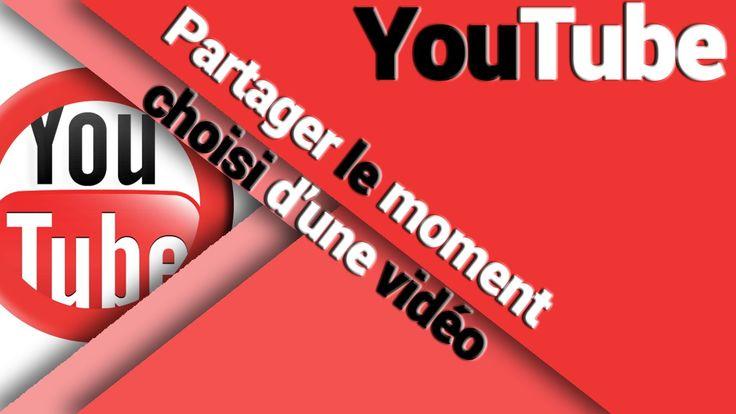 Vous souhaitez partager un moment précis, un instant particulier d'une vidéo YouTube ... et bien il y a une option pour ça !