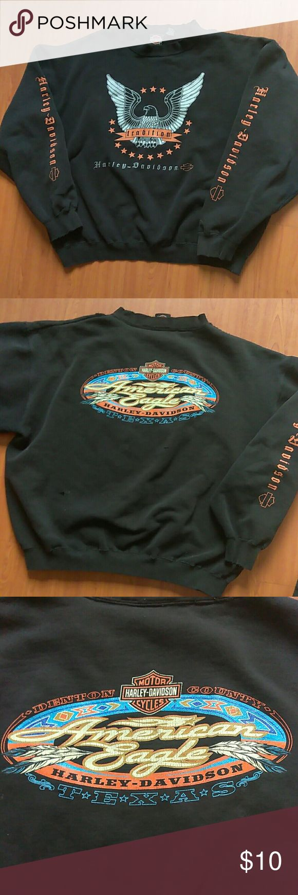 Harley Davidson sweatshirt (XL) Used slight fade and wear due to wash and wear Harley-Davidson Shirts