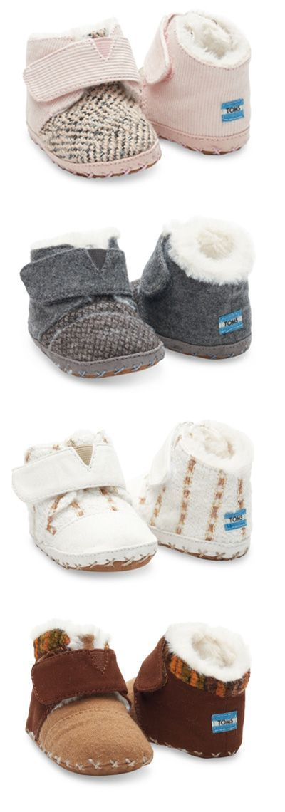 Be still my heart. TOMS Introduced Crib Shoes!