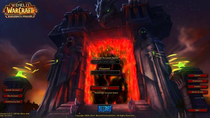 World of Warcraft: Warlords of Draenor Login Screen / Music