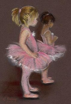 Waiting in the Wings-dancer, painting by artist Johanna Bohoy