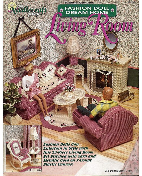 Fashion Doll Dream Home Living Room Plastic by grammysyarngarden, $16.00 - 95 Best Images About Barbie Furniture Living Room On Pinterest