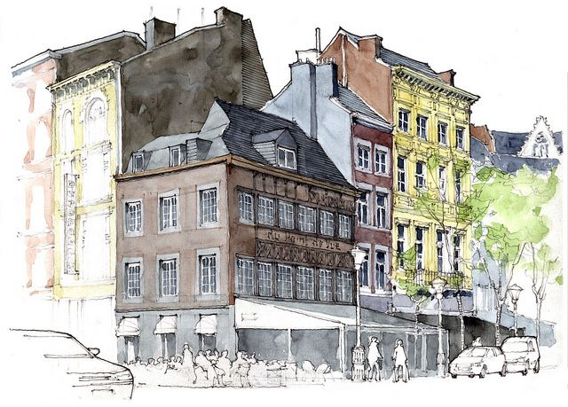 425 best architectural illustration gerard michel images for Architecture verte