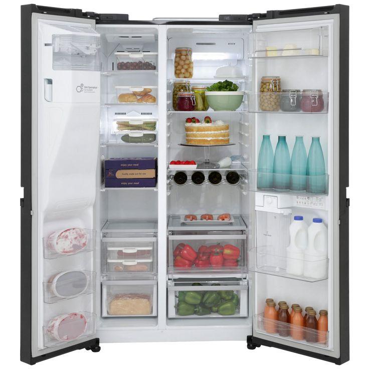 LG GSL545WBYV American Fridge Freezer - Black Gloss