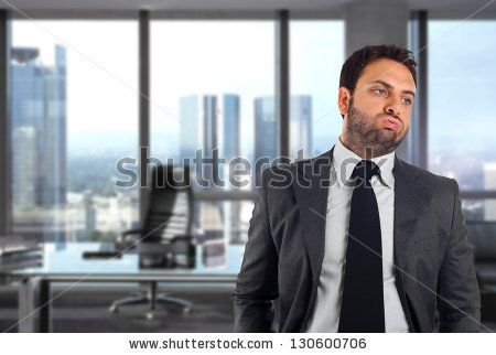 Handsome businessman in the office