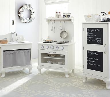 Farmhouse Kitchen Collection #pbkids//we already ordered a kidcraft kitchen, but isn't this so cute?!