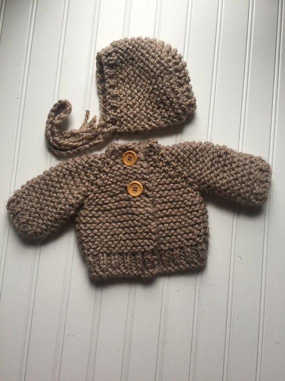 f639f02123cf Knit Chunky Baby Sweater knitting pattern