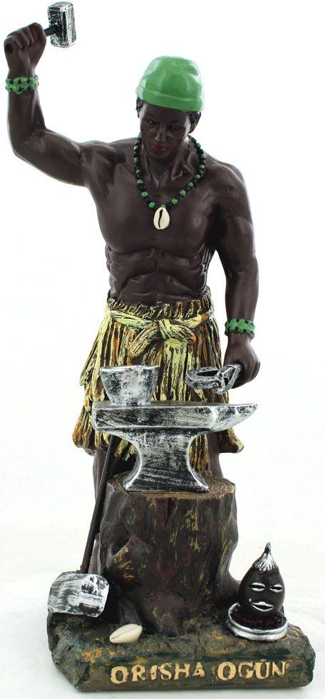 """Orisha Ogun   orisha statue ogun 14"""" tall"""