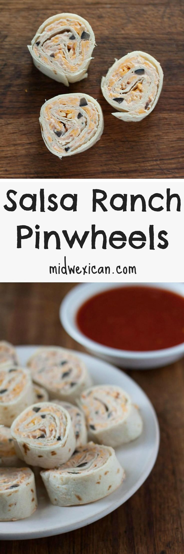 Salsa Ranch Pinwheels are perfect for the lover of all things pinwheel, taco seasoned, and coated in ranch dressing,
