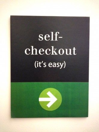 self-checkout | Library Signs | Pinterest | Library signs and Signage