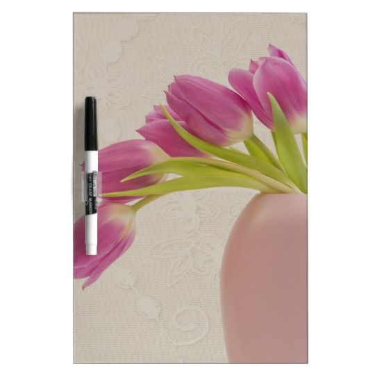 Pink Tulips And Lace Dry-Erase Boards