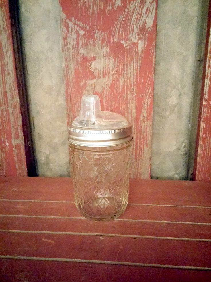 Mason Jar Sippy Cup | Nuby Sippy Kids Eco Mason Jar | Children's Drinking Lid and Jar | Eco Mason Jar Lid | Kids Canning Jar Lid Accesory by IowaFarmLifeDreams on Etsy https://www.etsy.com/listing/216449884/mason-jar-sippy-cup-nuby-sippy-kids-eco
