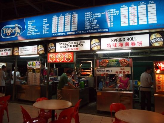 Long Beach Food Court, Batu Ferringhi, Penang. So much good food!
